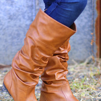 Saddle Up Boots: Cognac       | Hope's