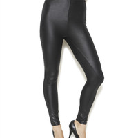 Wide Waist Liquid Leather Legging | Shop New Arrivals at Arden B