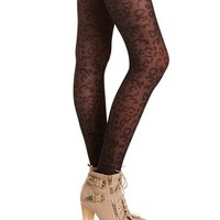 Leopard Mesh Patterned Tight: Charlotte Russe