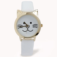 Faux Leather Cat Watch | FOREVER21 - 1060972479