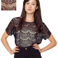 El Salvador Lace Tee | Lace | Shop American Apparel