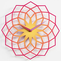Skallop Wall Clock - Purple