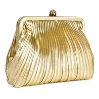 Gold Pleated Vintage Clutch