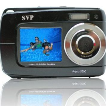 "2.7"" Display Black Aqua5500 Underwater Camera"