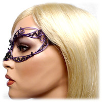 Purple and black womens masquerade mask, costume, accessories, handmade