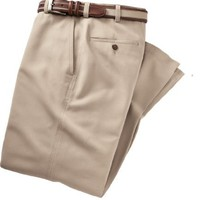 VIP Cotton Tencel Plain Front Pants