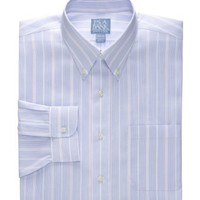 Stays Cool Wrinkle-Free ButtonDown Collar Stripe Dress Shirt