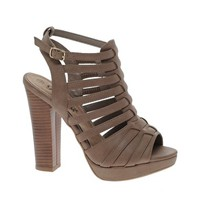 New Look Pompeii Gladiator Heeled Sandals at asos.com