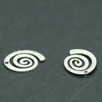 2pics Sterling Silver Decorative Elements Silver Jewelry Findings Jewelry Making Silver Beads Charms