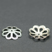 10pics Sterling Silver Caps 14mm Flower Bead Caps Silver Findings Jewelry Making Silver Beads Flower Beads