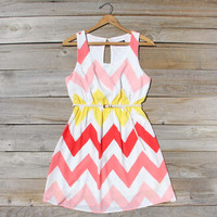 Indian Summer Chevron Dress