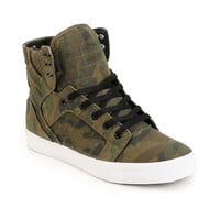 Supra Skytop Green Camo Canvas Skate Shoe at Zumiez : PDP