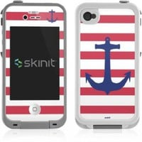 Skinit Nautical Stripes Vinyl Skin for Lifeproof for Apple iPhone 4 / 4s:Amazon:MP3 Players & Accessories