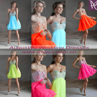 Sweetheart Mini Short Homecoming Dress Prom Gown Evening Bridesmaid Dresses