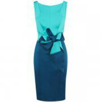 Bqueen Colourblocked Stretch Ssatin Dress K411E - Designer Shoes|Bqueenshoes.com
