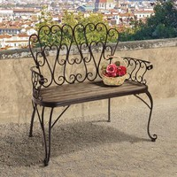 French Quarter Garden Bench - ZJ12718                       - Design Toscano