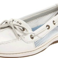 Sperry Women's Angelfish Shoes White Open Mesh