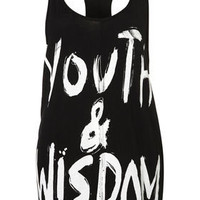 Youth and Wisdom Racerback by Illustrated People** - New In This Week - New In - Topshop