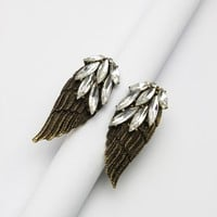 Angel Wings Shape Crystal Ring