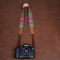 Bohemian DSLR Leather Camera Strap