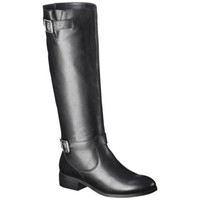 Women's Mossimo Supply Co. Rylee Leather Riding Boot - Black