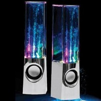 Plug And Play Muti-Colored Illuminated Dancing Water Speakers:Amazon:MP3 Players & Accessories