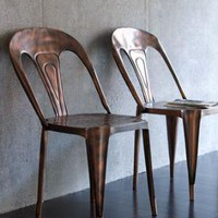 Metal Cafe Chair - Horchow