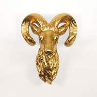 The Charlotte | Gold Faux Ram Head