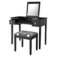 Kayden Vanity Set - Black