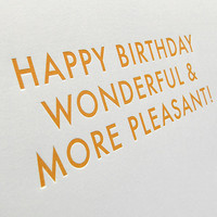 Funny Birthday Card w/ Envelope. 5x7 letterpress by SignFail