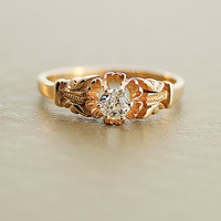 Antique Diamond Ring Yellow Gold