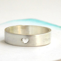 Heart Ring--  Choose your finish, sterling silver ring