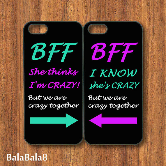 Best Friends, iPhone 4 case, iphone 5 from BaLaBaLa8 on Etsy