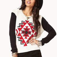 Colorblocked Southwestern Sweater