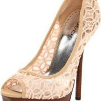 bebe Women's Chantal Open-Toe Pump