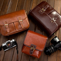 Vintage Look Leather DSLR Camera Bags