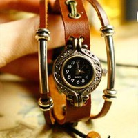 Exquisite leather rope bracelet watch from Topboutique