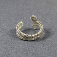 Ear Cuff Sterling Silver Woven Band by ShutUpAndCuffMe on Etsy