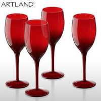 Midnight Wine Glasses ? Artland red wine glass ? red crystal glasses
