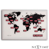Nextime World Time Digit Clock ? red LED wall clock ? buy online