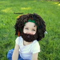 Halloween Costume, Bearded Beanie, Rasta Hat, Costumes for kids, Costumes for boys, Beard hat