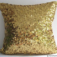 Starry Night Luxury Glamour Gold Sequins by RaineStyleHome on Etsy