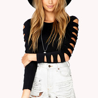 Cutout Stretch-Fit Top