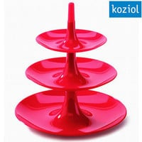 Koziol Babell Cake Stand - triple tiered fruit dish modern cake holder