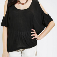 Sparkle & Fade Cold Shoulder Top