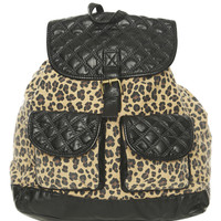 Animal Print Quilted Backpack | Shop Just Arrived at Wet Seal