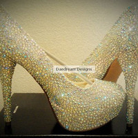 CUSTOM BLING PUMPS Read post before ordering by DaedreamDesigns