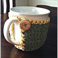 Crochet Coffee Mug Cozy | LoopsandBeadsCreations - Crochet on ArtFire