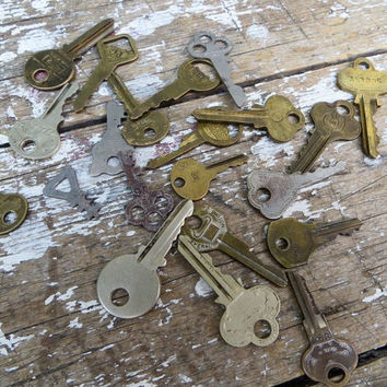 Metal Key Key Pendants Skeleton Keys Steampunk Supplies Rustic Key