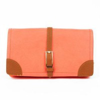 Colorblock salmon clutch - Colorblock Clutches- Salmon Clutches- &amp;#36;42